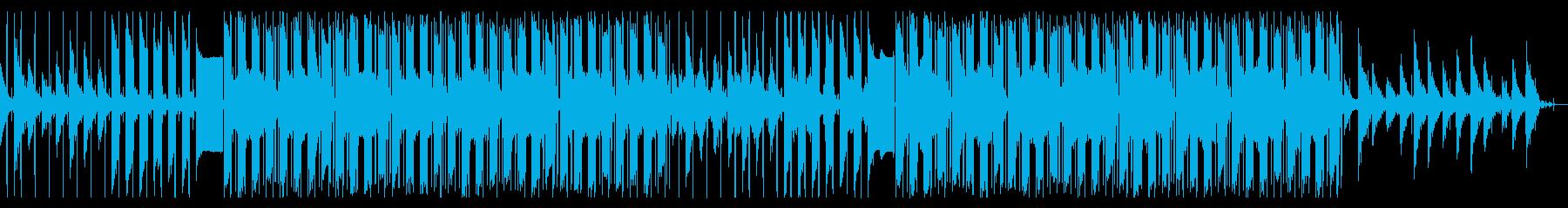 サックスソロのチル・ヒップホップの再生済みの波形