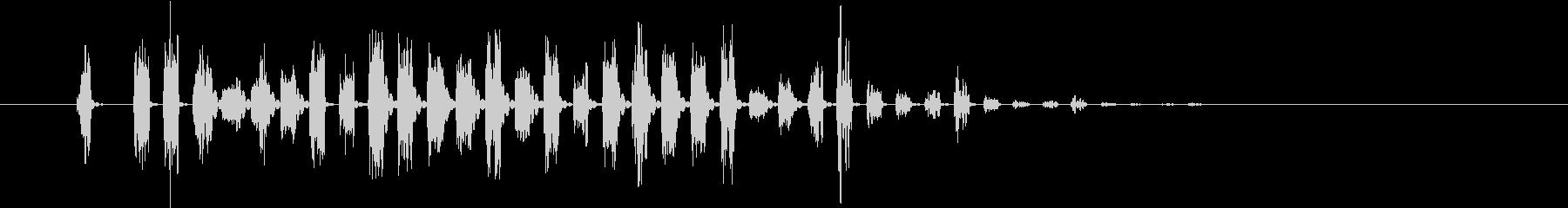 効果音 場面切替 Fの未再生の波形