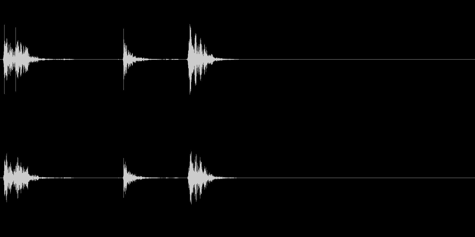 ドアメタルアーマードダブルクローズの未再生の波形