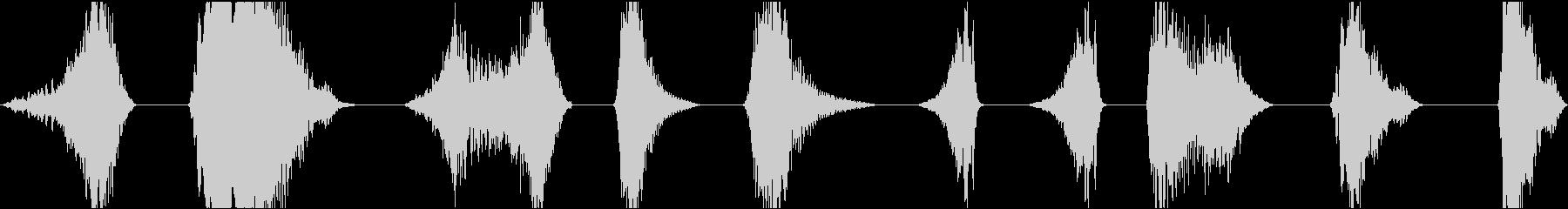 空間遷移のスイープとスワイプ、複数...の未再生の波形