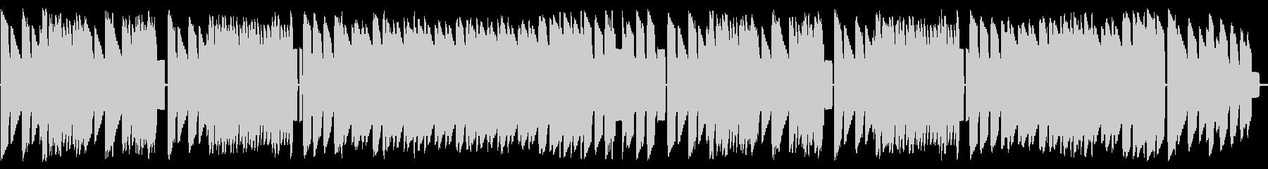 初期ファミコン風ジャジーなループBGMの未再生の波形