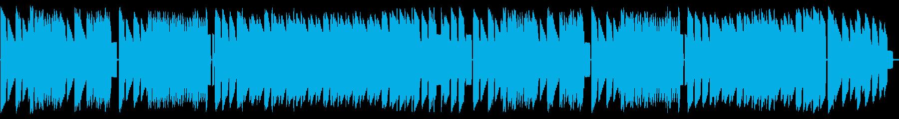 初期ファミコン風ジャジーなループBGMの再生済みの波形