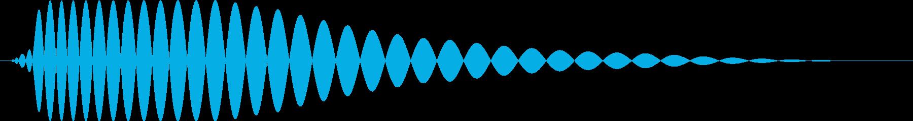 ドンッ【衝突・壁・行き止まり】の再生済みの波形