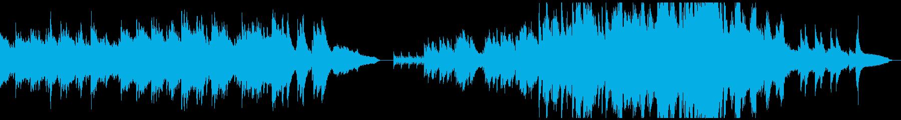 神秘的で、なにかの予兆を感じるピアノ曲の再生済みの波形