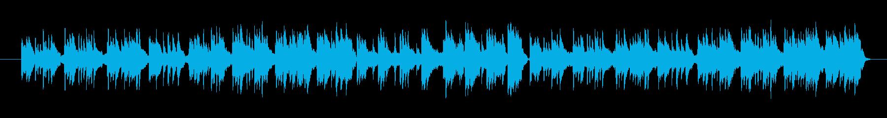 音色が綺麗で和風な雰囲気のメロディーの再生済みの波形