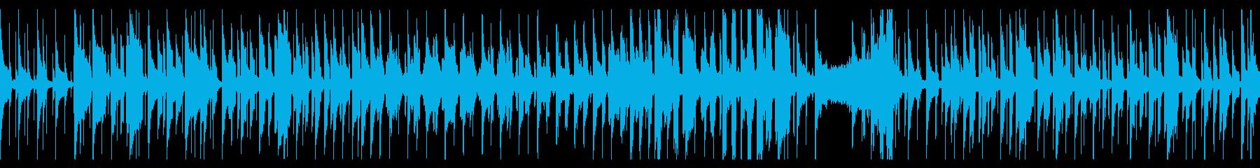 リコーダーがメインの脱力系の曲の再生済みの波形
