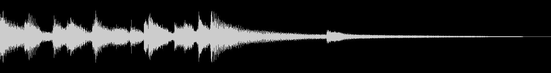 ピアノを備えたイージーリスニングア...の未再生の波形