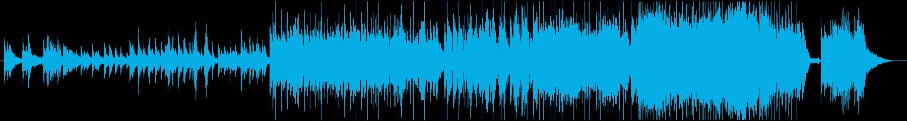 クラシックで暖かい曲の再生済みの波形