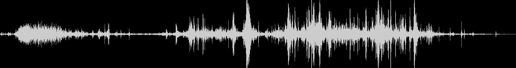 ゾンビ、食べる音02の未再生の波形