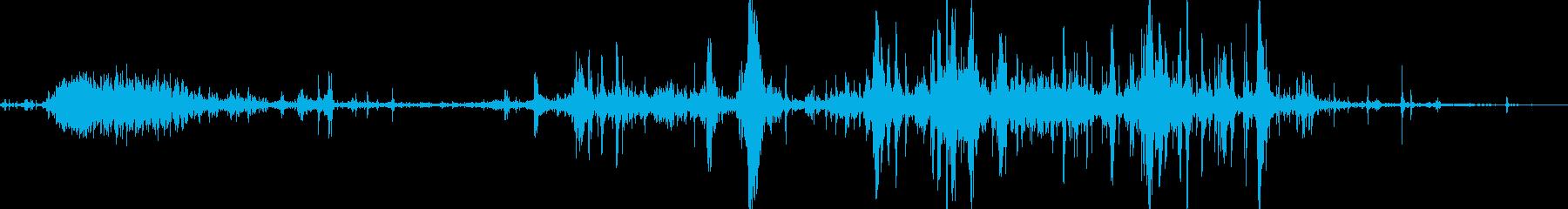 ゾンビ、食べる音02の再生済みの波形
