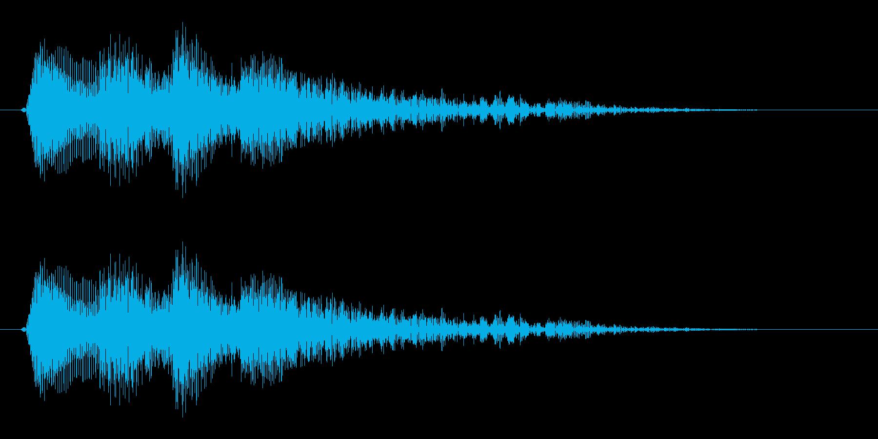 シンセサイザーで作ったマンガチックな琴…の再生済みの波形
