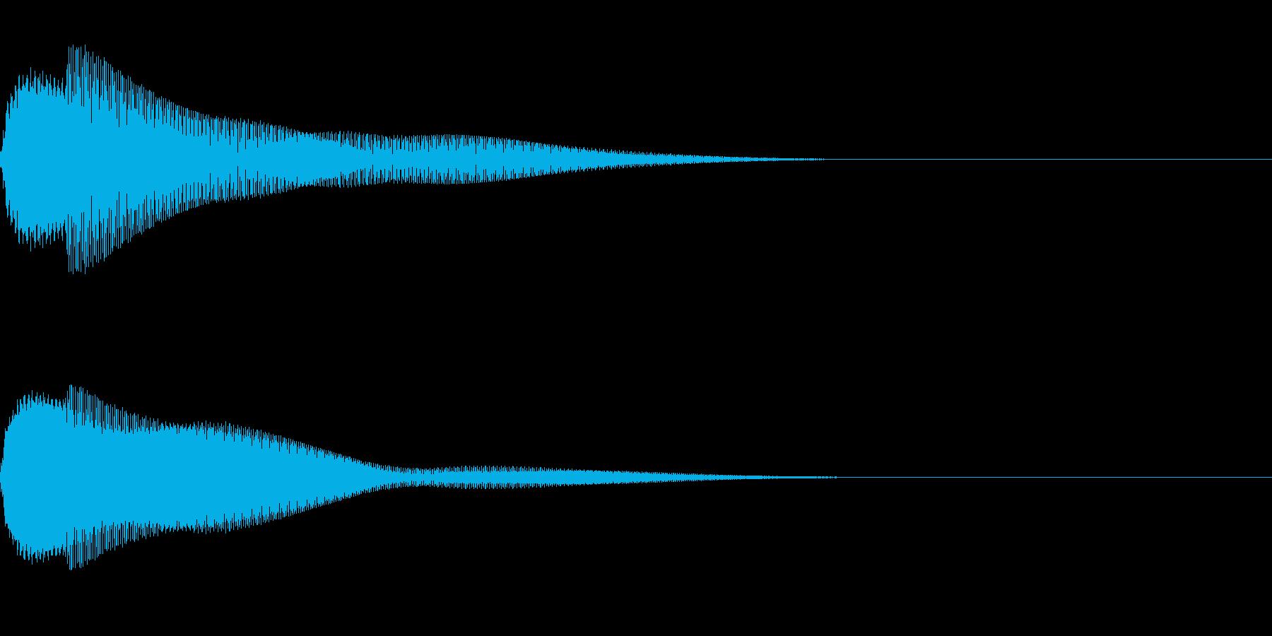 カーソル移動音 文字 入力 楽しい 爽快の再生済みの波形