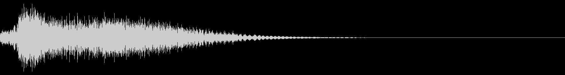 ガキーン!【斬撃・剣と剣のぶつかり合い】の未再生の波形