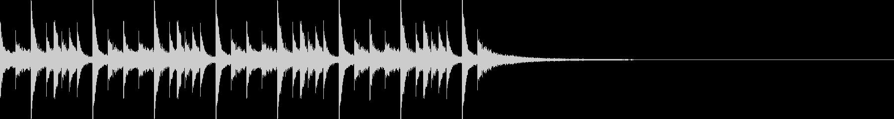 ドラムンベースのリズムループパターン07の未再生の波形