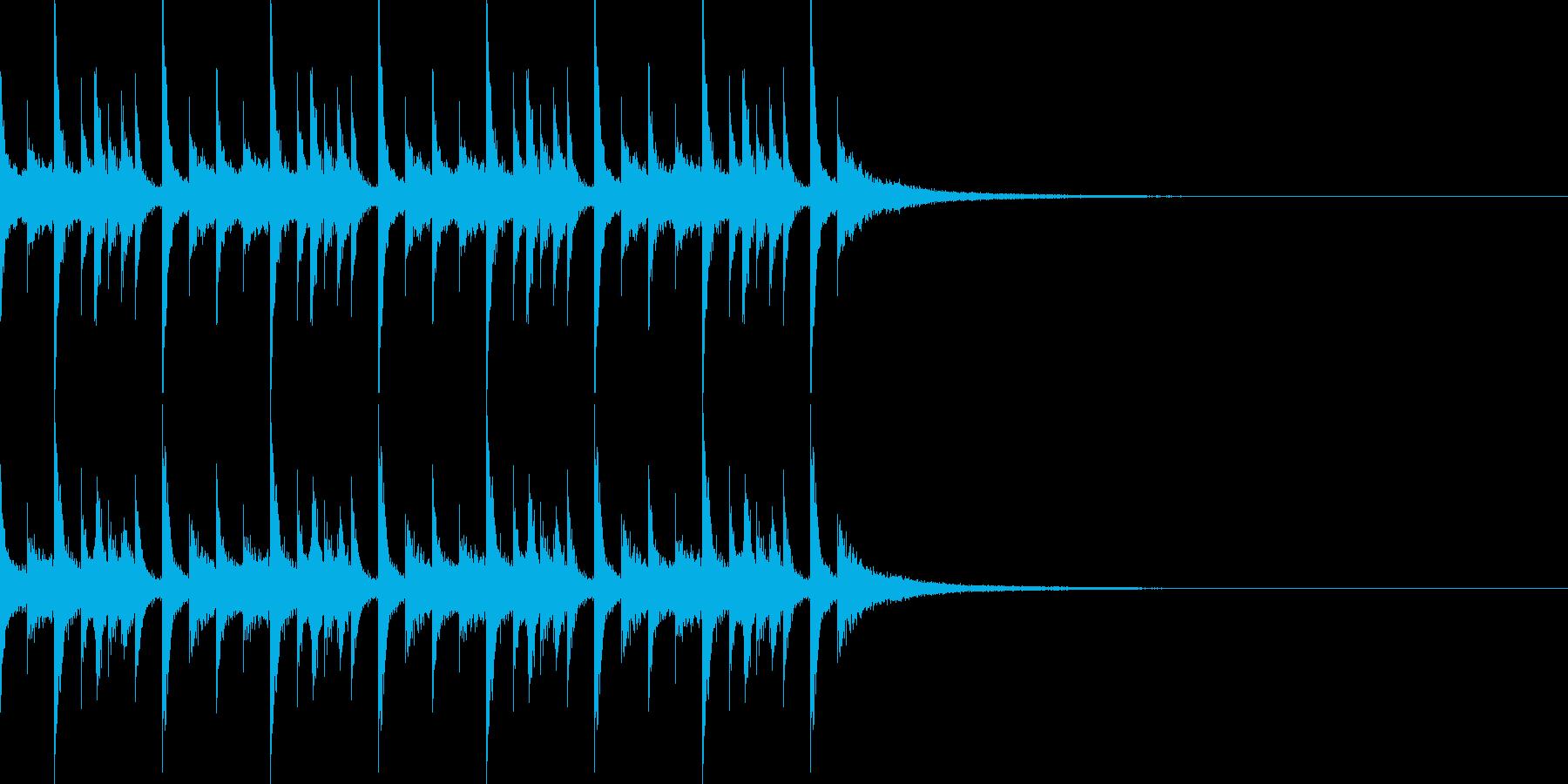 ドラムンベースのリズムループパターン07の再生済みの波形