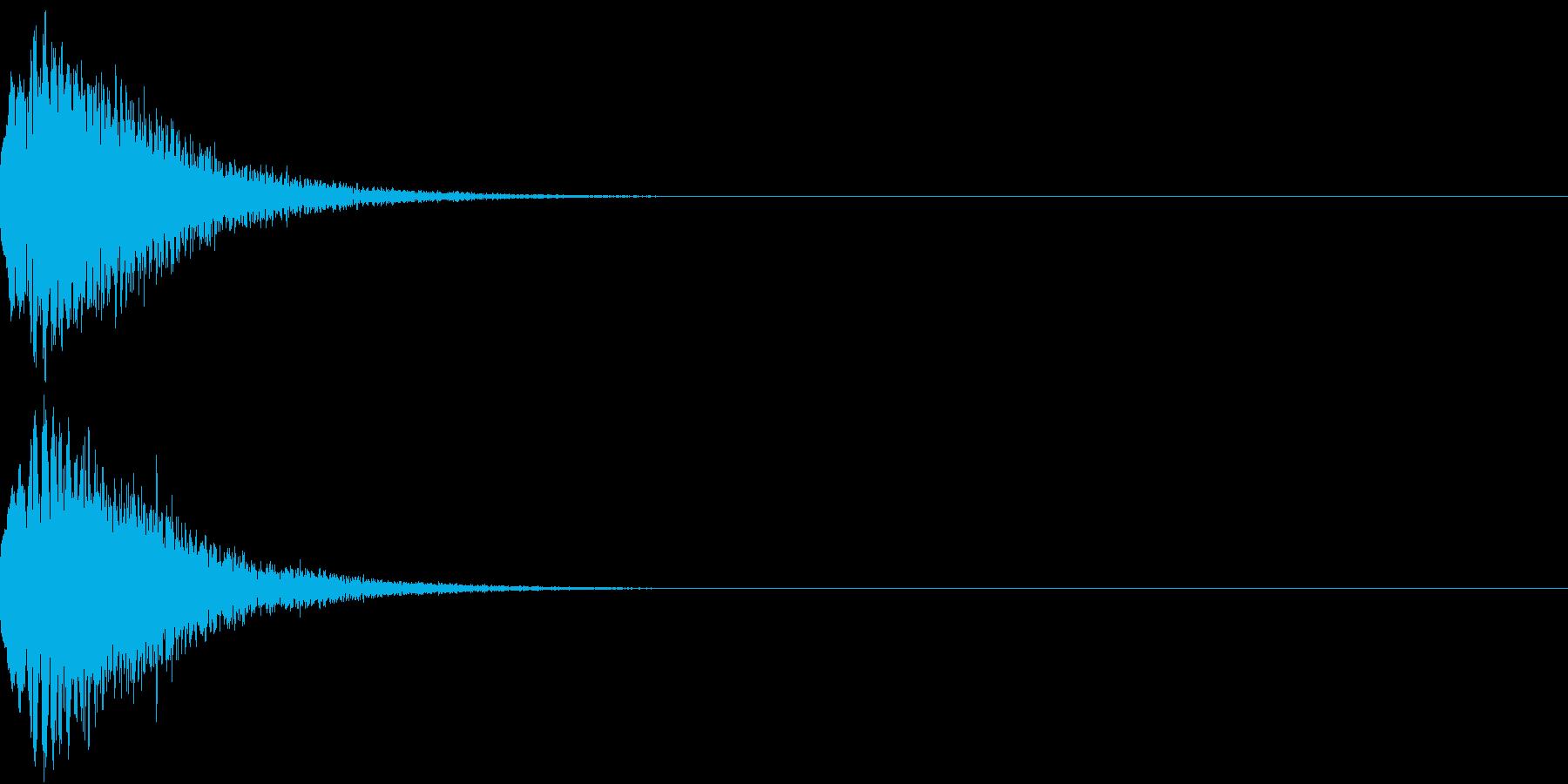 光る キュイーン ピカーン キラン 14の再生済みの波形