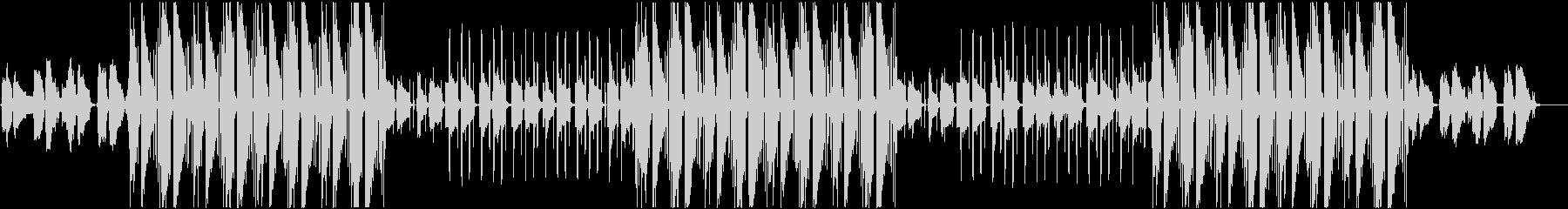 ムーディーな雰囲気のあるBGMの未再生の波形