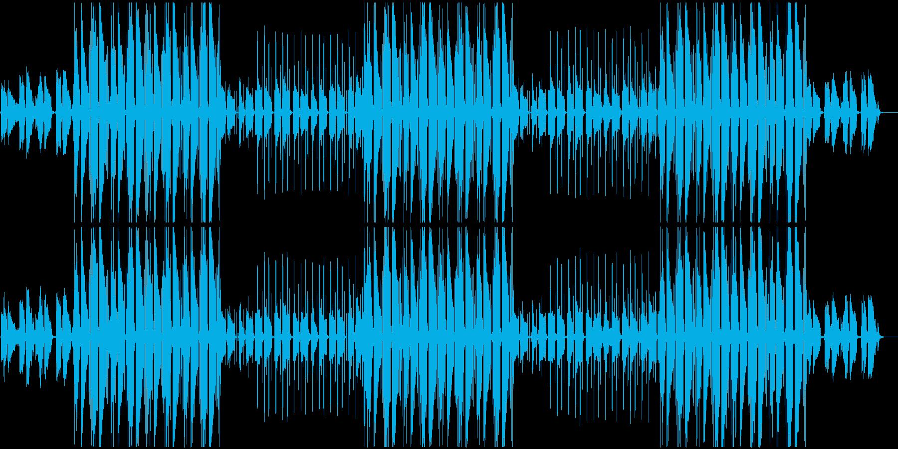 ムーディーな雰囲気のあるBGMの再生済みの波形