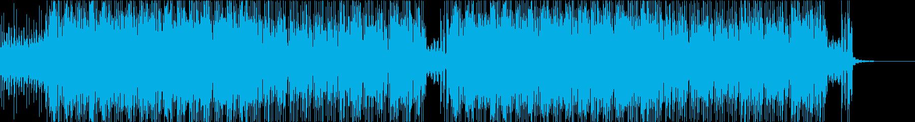 クールで無機質なEDMの再生済みの波形