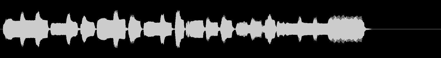 生演奏リコーダーを使ったジングルの未再生の波形