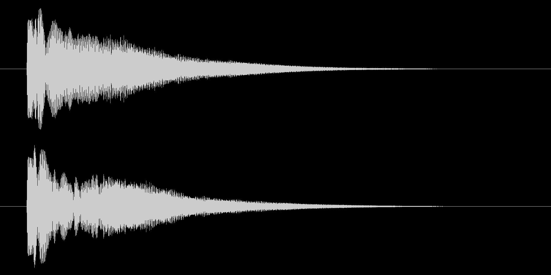 ピコン/目印や目的地を示すときに合う音の未再生の波形