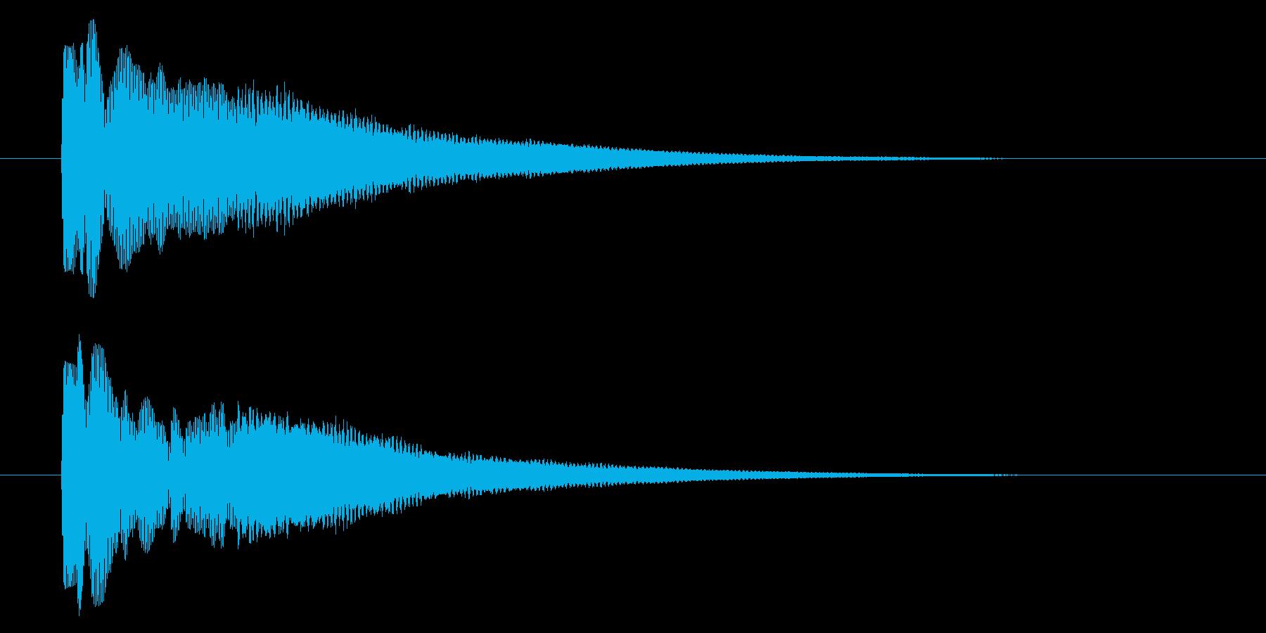 ピコン/目印や目的地を示すときに合う音の再生済みの波形