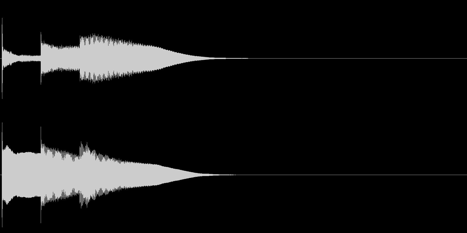グロッケン系 決定音09(長三和音)の未再生の波形