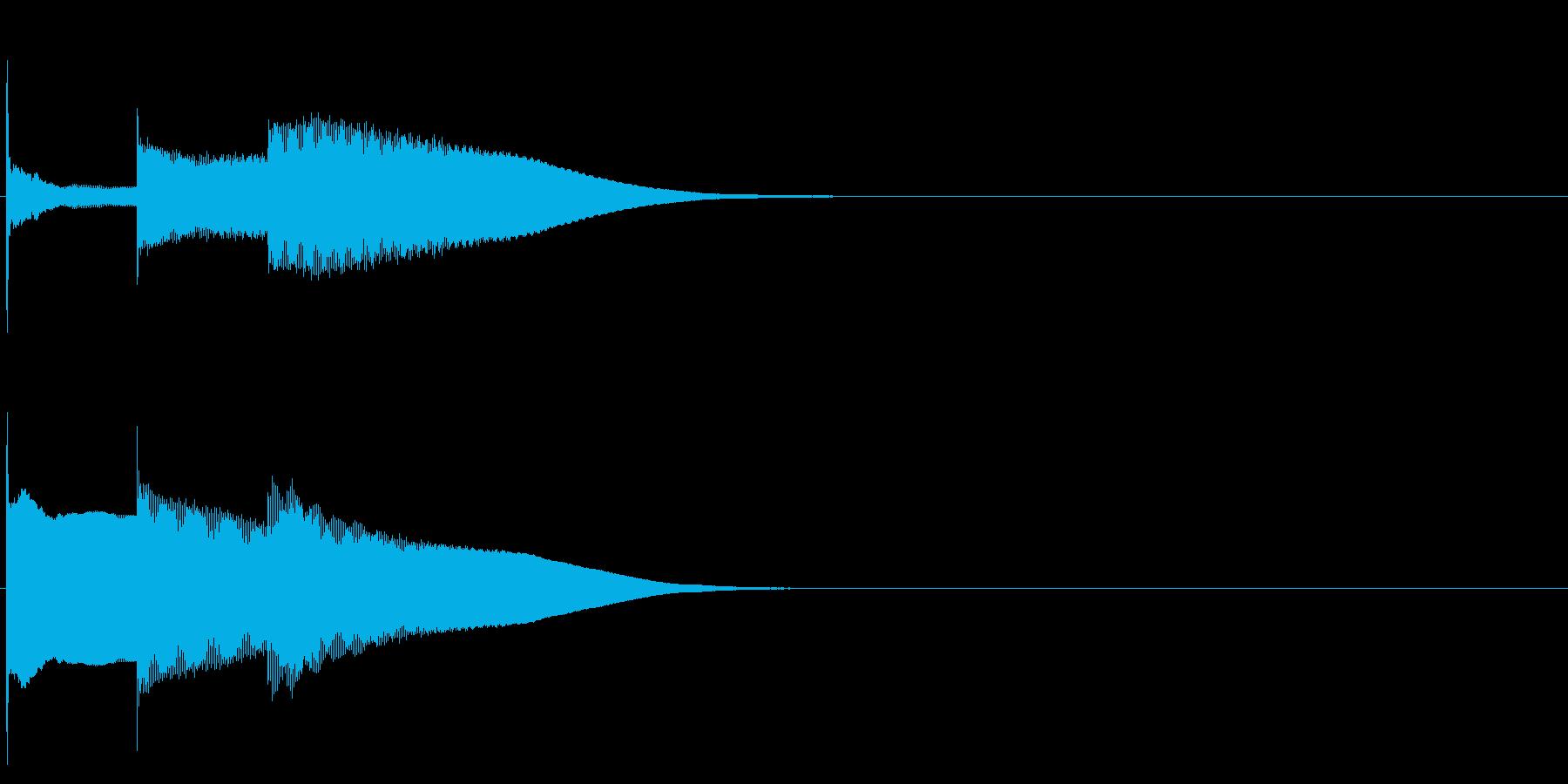 グロッケン系 決定音09(長三和音)の再生済みの波形