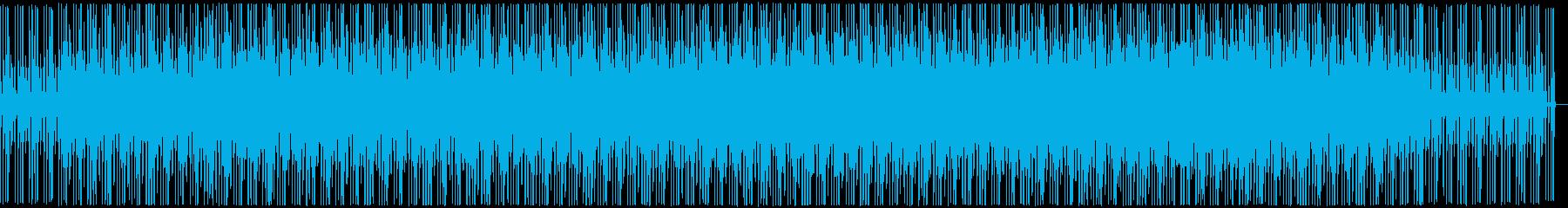 広告音楽。ポップ。定期的な繰り返し...の再生済みの波形