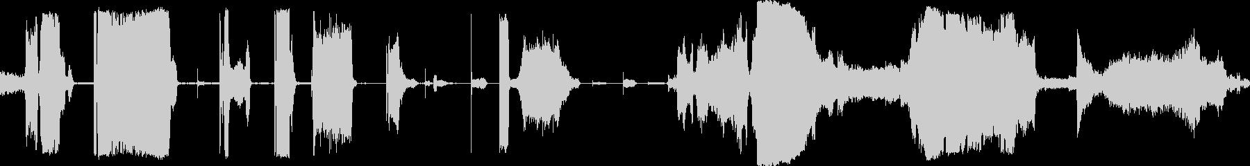 きしみ音オフのコンプレッサーの未再生の波形