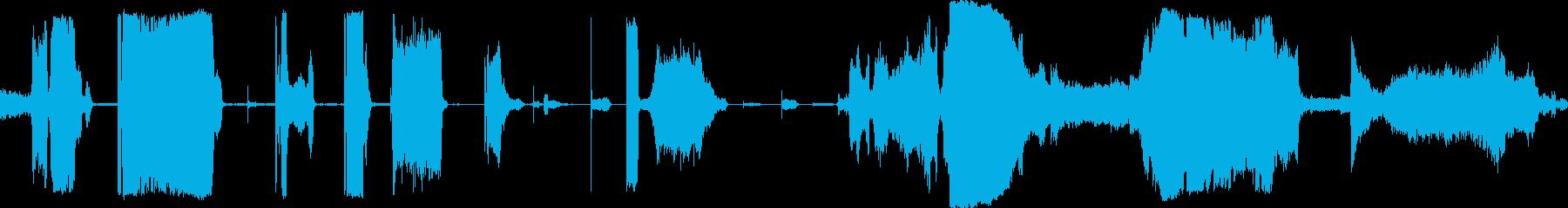きしみ音オフのコンプレッサーの再生済みの波形