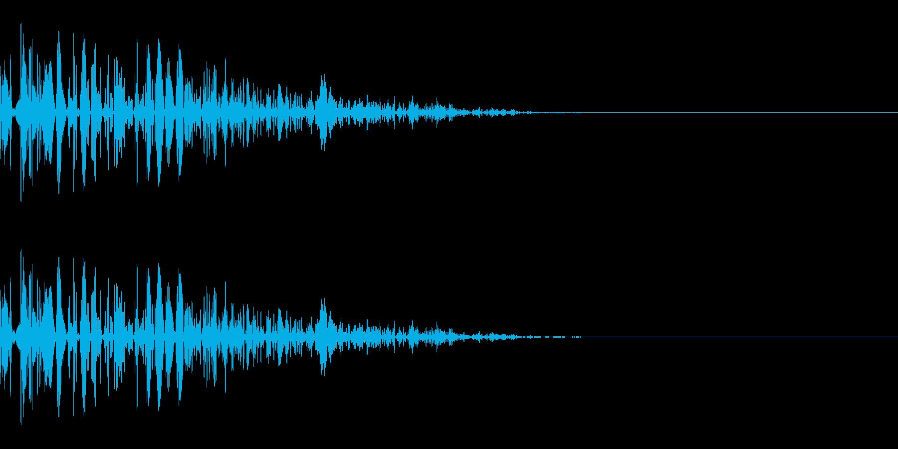 ドッ(防御/ガード/重め)の再生済みの波形