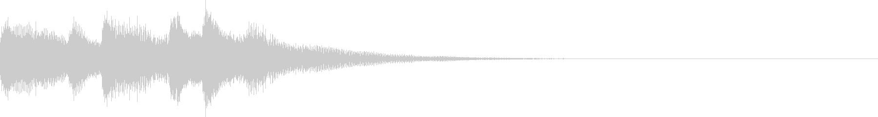 ピアノでシンプルに奏でるサウンドロゴの未再生の波形