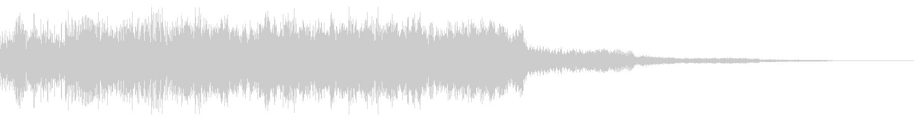 レトロなスタージクリア音 目標達成 完了の未再生の波形