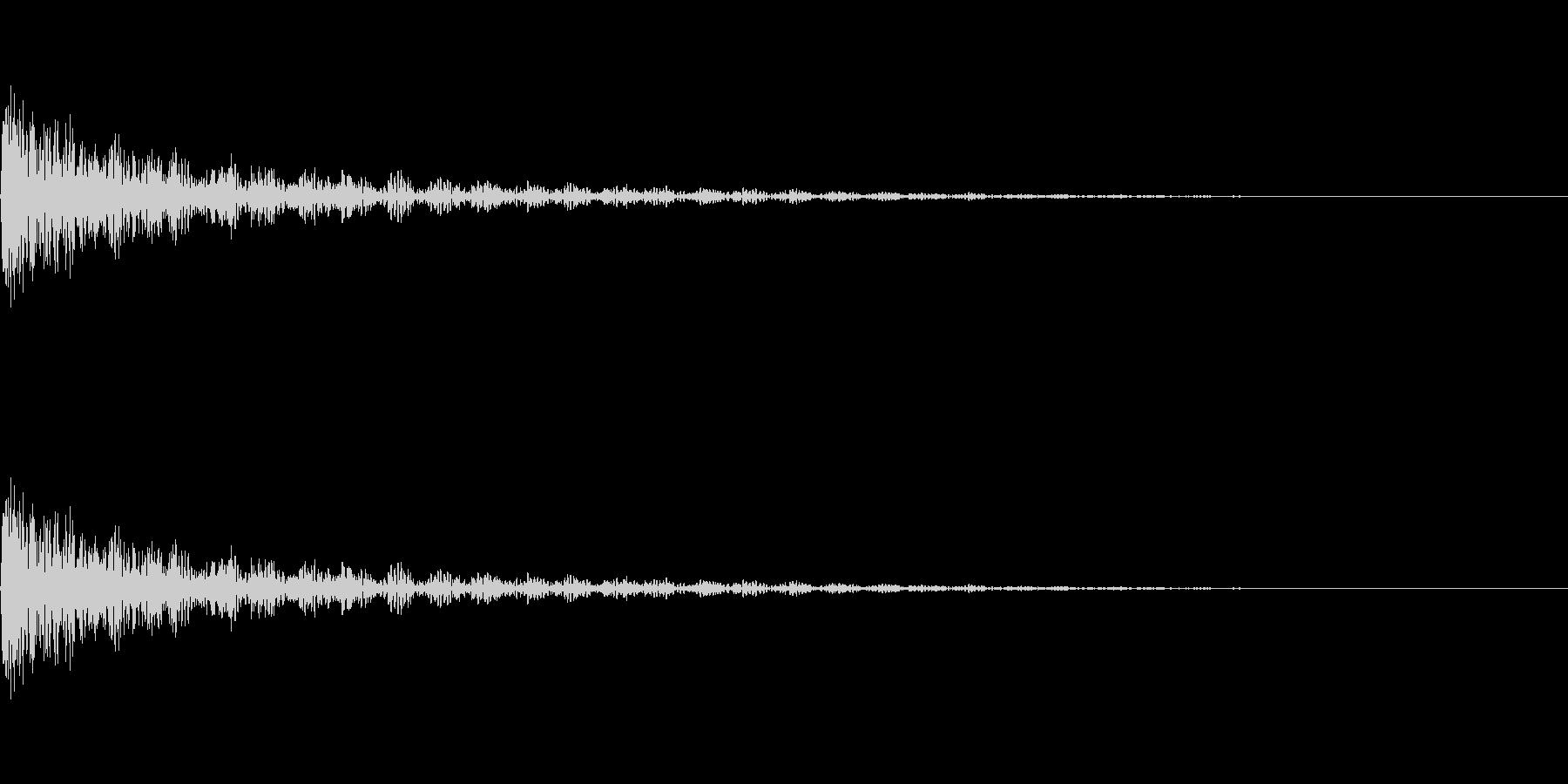 爆発7の未再生の波形