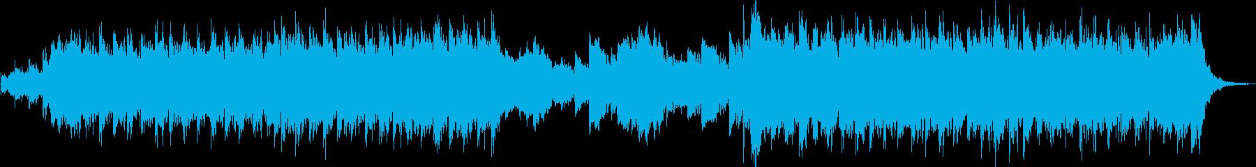 時代劇オープニング風威勢のいい90秒の曲の再生済みの波形