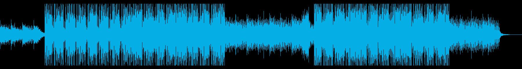 クールなかっこいい曲の再生済みの波形