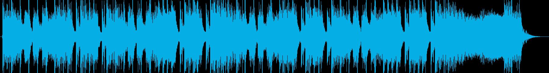 シンセとロックのちょっと不思議なジングルの再生済みの波形