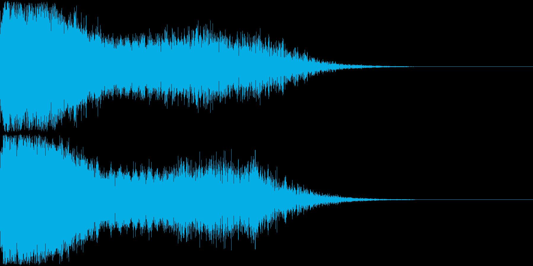 刀 剣 ソード カキーン キュイーン08の再生済みの波形
