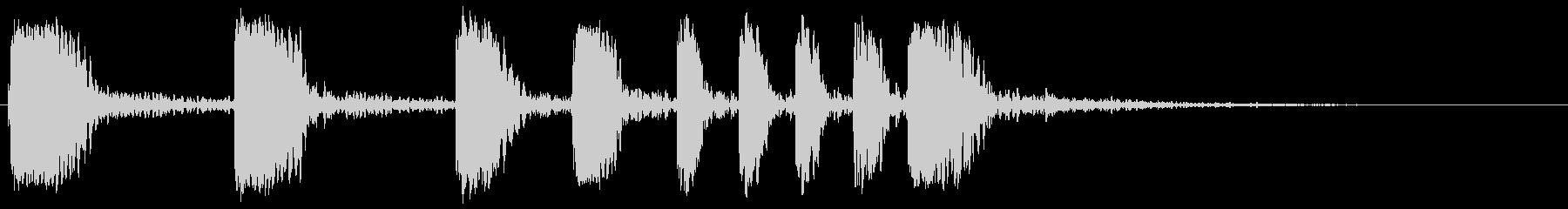 静的ドラムカット1の未再生の波形