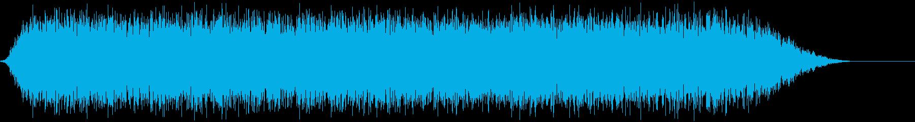 「ゴー」豪雨の再生済みの波形