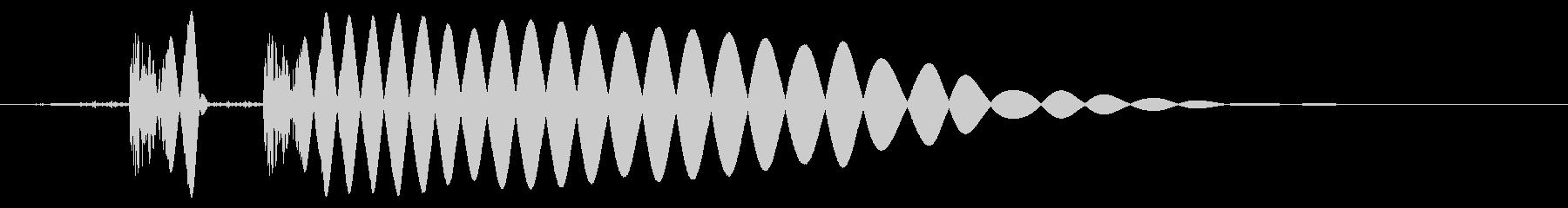 EDM/IDM系の埋もれないバスドラム5の未再生の波形