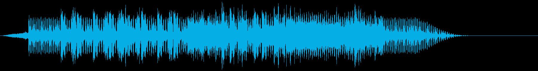 きらめくアンダートーンの速いペース...の再生済みの波形