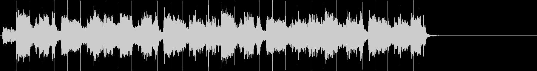 生楽器系メインでリズミカルなBGMの未再生の波形