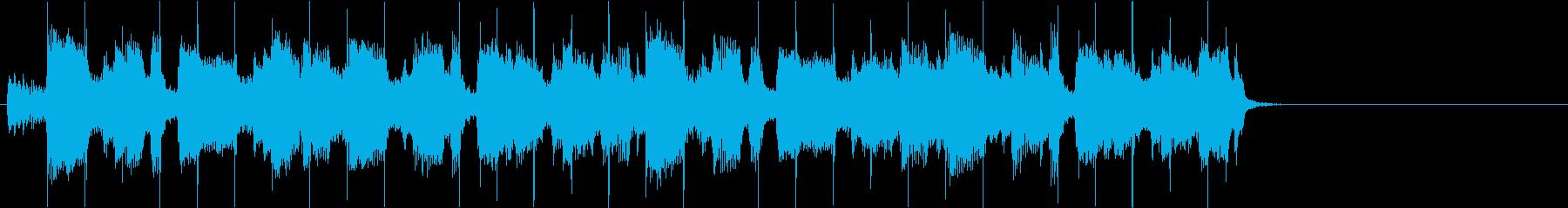 生楽器系メインでリズミカルなBGMの再生済みの波形