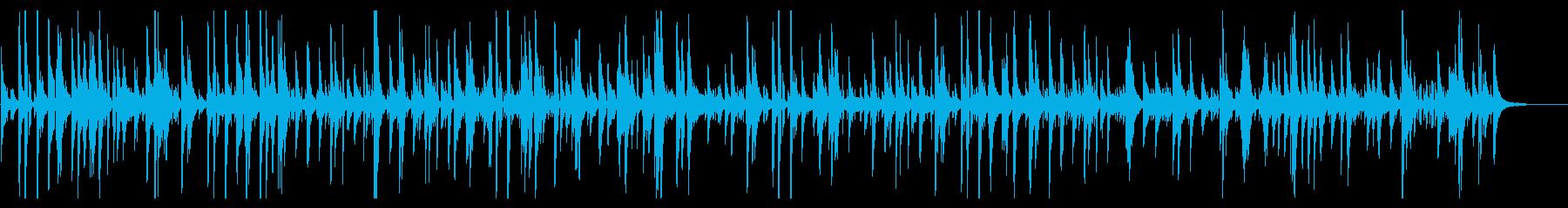 ジャズバーで流れるお洒落ピアノバラードの再生済みの波形