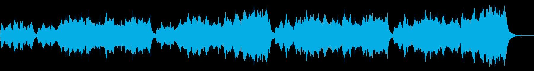 ハリウッド軽快な疾走感あるオーケストラの再生済みの波形