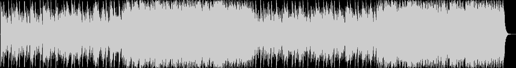 リズミカルビートとピアノのインストの未再生の波形