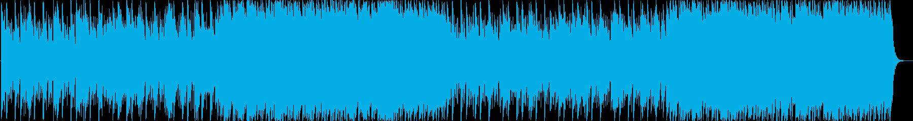 リズミカルビートとピアノのインストの再生済みの波形