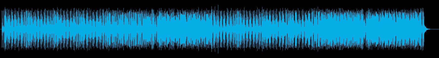 可愛いアップテンポのシンセサイザーの曲の再生済みの波形